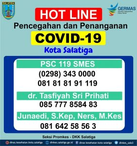 Hotline Layanan Pencegahan dan Penanganan COVID-19 Kota Salatiga